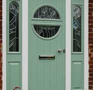 A green composite door