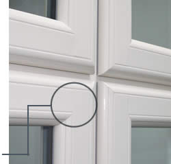 uPVC beaumont traditional timber look window