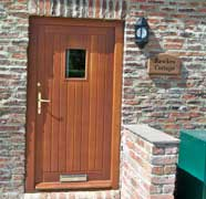 A timber entrance door