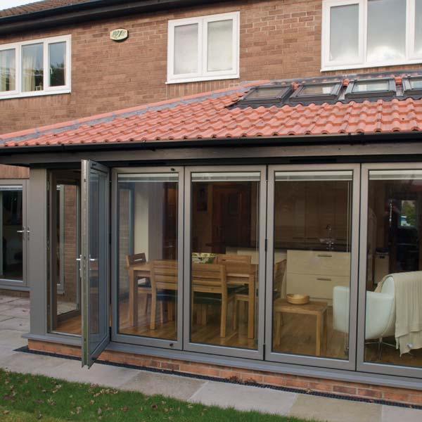 Bifold doors Folding patio doors Aluminium doors