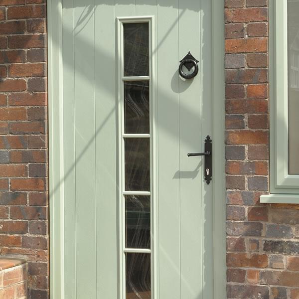 A solid timber core composite door