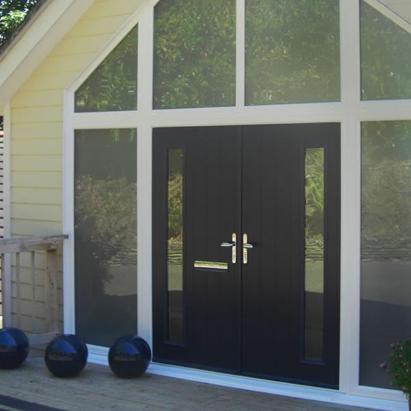 A double composite entrance door