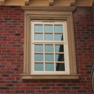Fake timber sash windows