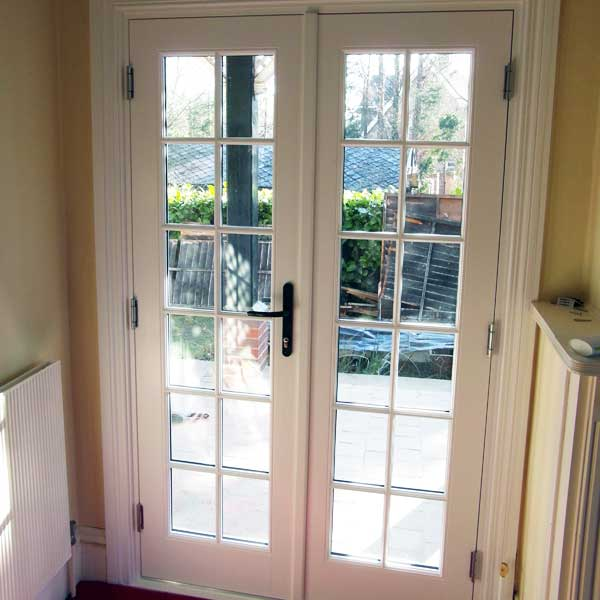 Timber french doors double doors patio doors inspire for French door style patio doors