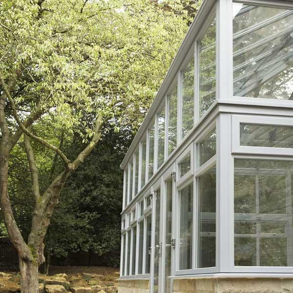 Grey uPVC conservatory