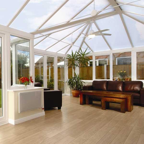 A modern uPVC conservatory