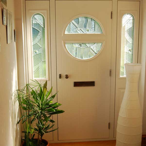 Internal view of dual colour composite door