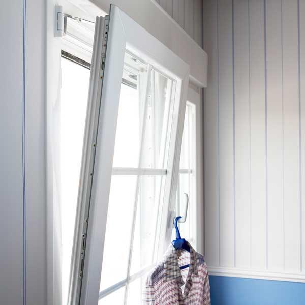 A white uPVC tilt and turn window