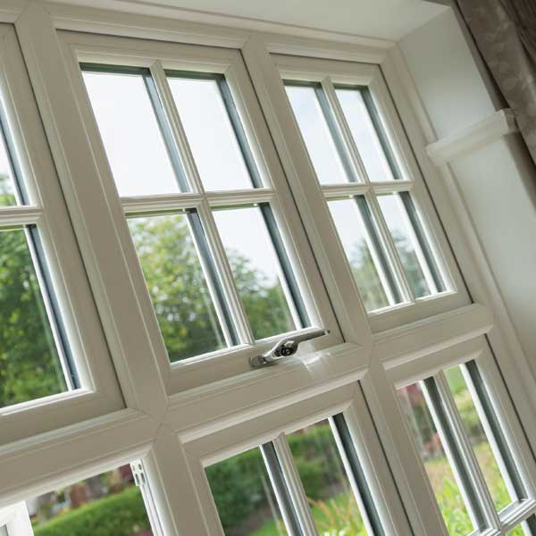 Timber effect casement windows