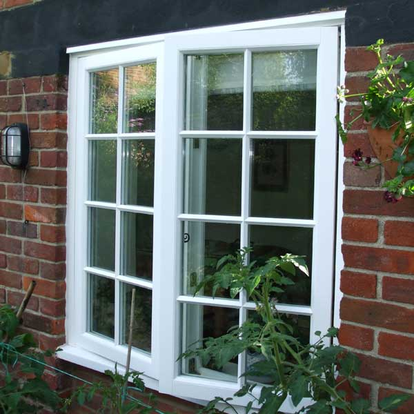 Flush casement timber window