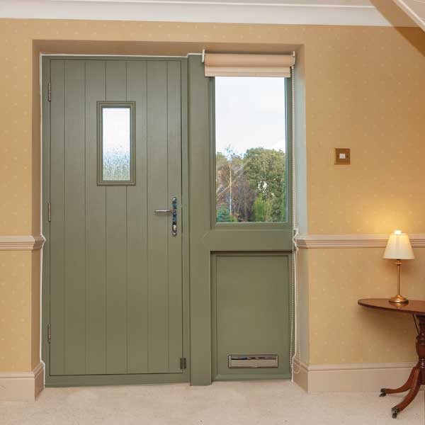 Green uPVC front door