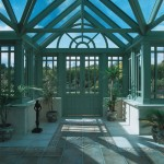 a timber conservatory