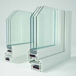 Triple glazed uPVC window